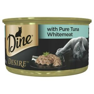 Dine Desire Pure Tuna Whitemeat Grain Free Wet Cat Food Can 85g