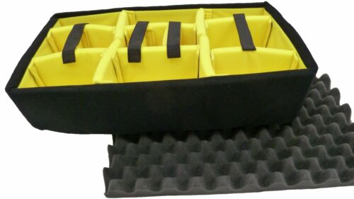 Yellow Padded dividers and lid organizer to fit the Nanuk 935 case lid foam