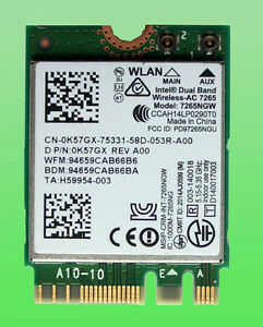 Original-Intel-Dual-Band-WirelesAC7265-Model7265NGW-802-11AC-867Mbp-NGFF-0K57GX