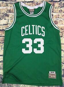 timeless design ff7a9 47e2d Details about Larry Bird Boston Celtics Hardwood Classics Throwback Retro  33 Jersey Medium A+