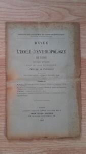 Compendio Mensile - Rivista Di SCUOLA Antropologia Di Parigi - 1899 - N°1