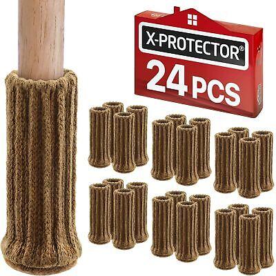 Chair Leg Socks 32PCS Knitted Elastic Furniture Socks Chair Leg Floor Protecto