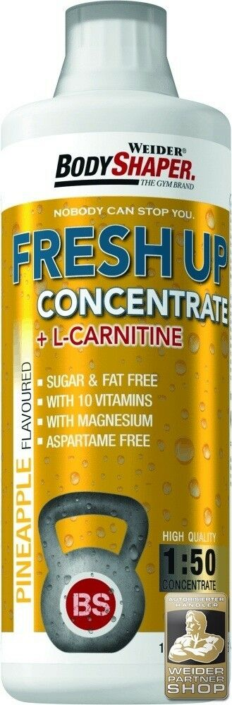 Weider BodyShaper Fresh kalorienarmes Up Konzentrat 1000 ml, 5 Liter kalorienarmes Fresh Kaltgetränk 4d2ae2