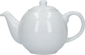 London Pottery Globe 2 Tasse Traditionnel Théière Blanc Brillant