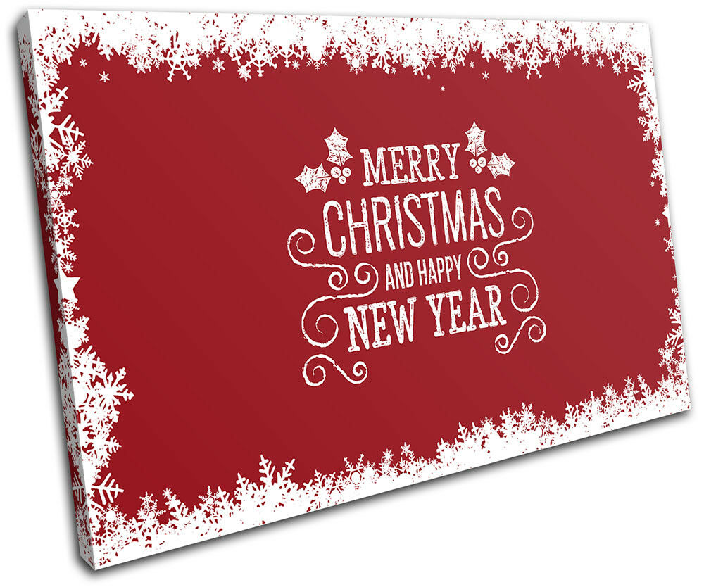 Christmas Decoration Wall Canvas ART Print XMAS Picture Gift  07 rot Christmas S