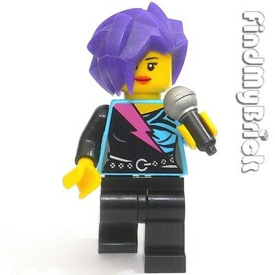 LEGO NEW ROCKER MINIFIGURE ROCKSTAR WITH MICROPHONE SINGER FIG
