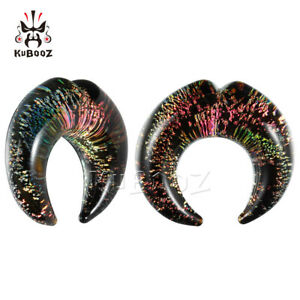 Fashion-Color-crescent-Ear-Gauges-and-Ear-Tunnels-Body-Jewelry-Ear-Plugs-2pcs