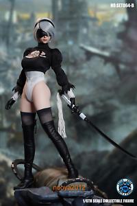 SUPER DUCK 1:6th SET064B NieR Automata 2B YoRHa Head Clothes F 12'' Female Body