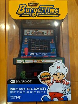 """My Arcade 6/"""" Collectible Retro Burgertime Micro Player Brand New Sealed Official"""