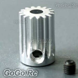 2-Pcs-15T-3-17-450-Motor-Pinion-Gear-For-Trex-T-Rex-Helicopter-RH056x2