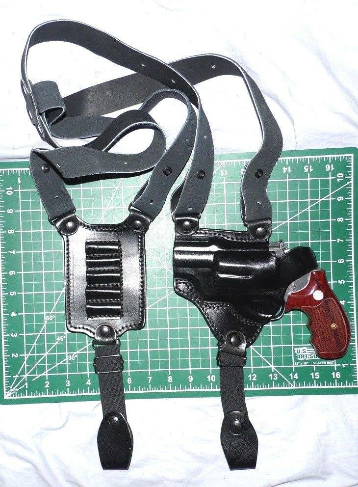 Tagua SH4-1226 LH Leder Shoulder w/ Holster w/ Shoulder Loops Taurus Judge Polymer b95432