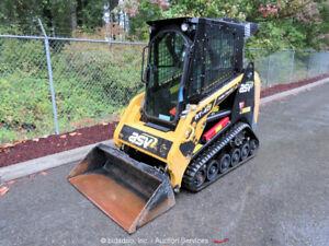 2019 ASV RT40 Tracked Skid Steer Loader Crawler Kubota Diesel Cab A/C bidadoo