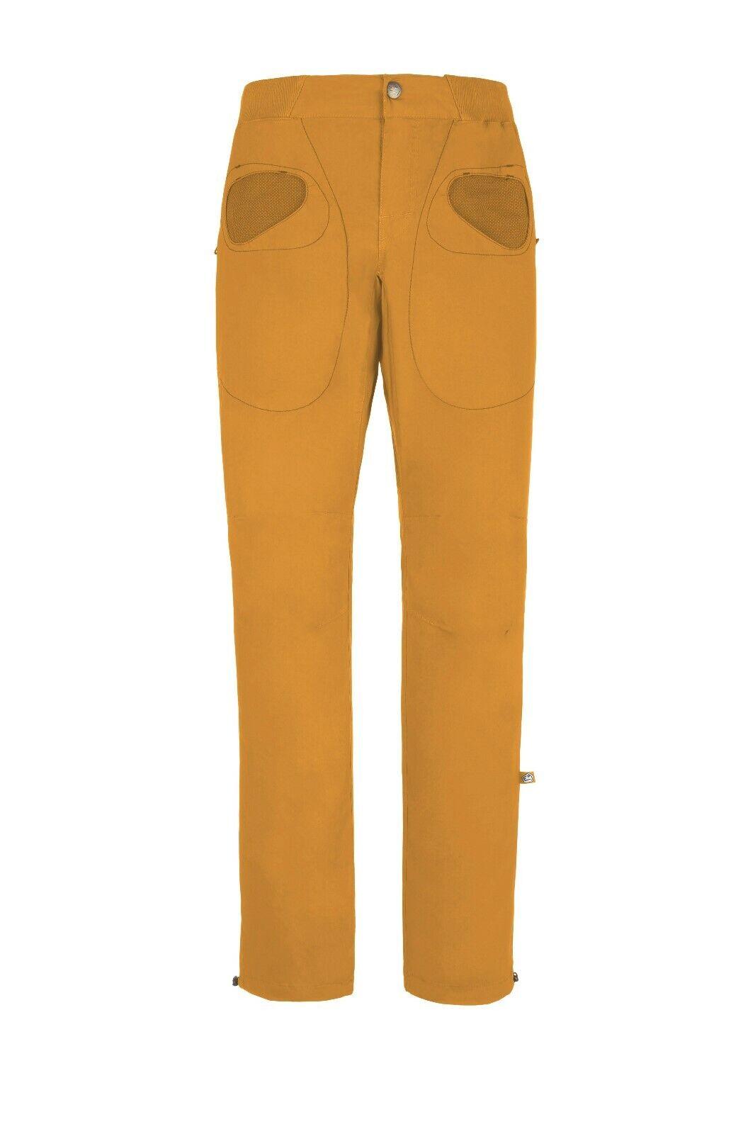 E9 Rondo Slim Pantaloni per Arrampicata per Uomini Senape