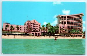 Details About Postcard Hi Honolulu Royal Hawaiian Hotel Waikiki Beach Vtg Photo View F6