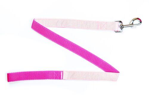 Pink Herringbone Tweed País collar de perro o plomo-Hecho a Mano