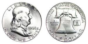 1958-P-Franklin-Half-Dollar-Brilliant-Uncirculated-BU