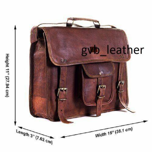 Leather Vintage Useful For Messenger Shoulder Men Satchel Laptop Briefcase Bag