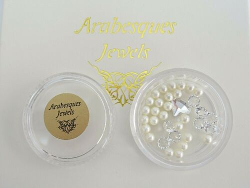 """/""""OYSTERS /& PEARLS/"""" ARABESQUES CHARM POTS FOR MEMORY//FLOATING PENDANT//NECKLACE"""
