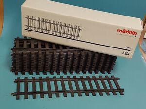 Maerklin-Spur-1-10x-5901-gerade-Gleise-300mm-brueniert-TOP-OVP