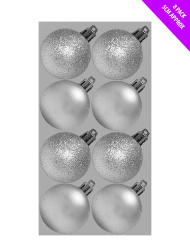 8 x 5 cm PAILLETTES /& Mat de Luxe décoration de Noël Baubles Tree Ornament