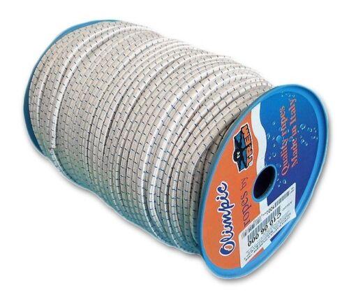 Gummiseil 10 mm weiß//blau Gummileine Gummischnur NEU 4253 1,75€//1m