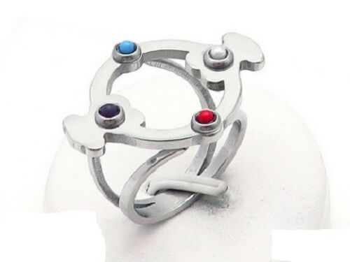 New Stainless steel Inlaid pearls Turquoise winding Bear Ring