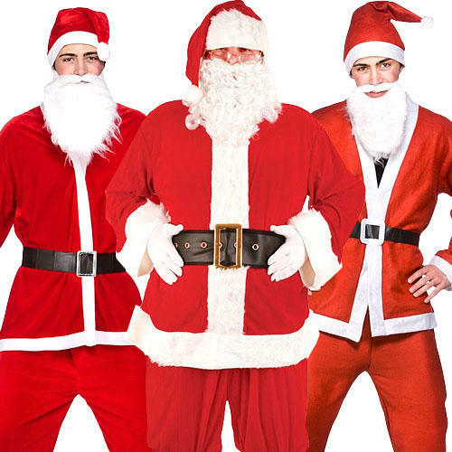 Women Mens Unisex Santa Hat Headband Father Christmas Fancy Dress Xmas Costume