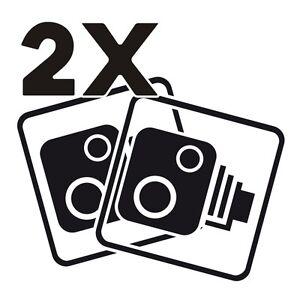 2X-Car-CCTV-Camera-Icon-Black-Car-Van-Taxi-Window-Bumper-Sticker-Decal-Dash-Cam