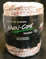 Macrame Maxi-cord Braided Polypropylene 6mm 100 Yards Red/pink/white Fact Sealed
