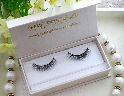 Natural 100%Real Mink False Eye Lashes Mink Fake Eyelashes Extensions For Makeup