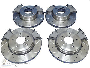 BMW E34 525 1988-1996 300mm DRILLED GROOVED BRAKE DISCS Rear