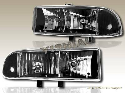 98-04 CHEVY S10//BLAZER PICKUP TRUCK CRYSTAL HEADLIGHTS LAMP SMOKE 99 00 01 02 03