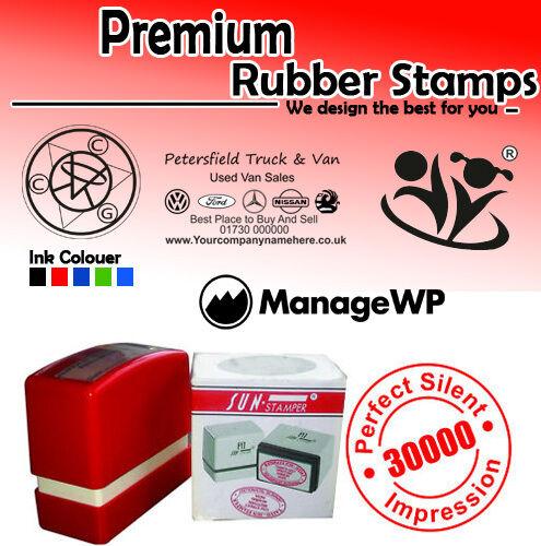 Personalised self ink rubber stamp computerised
