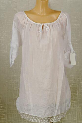 * tendance joli long tunique chemise robe chemisier superposé vintage crash taille 40//42