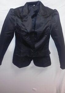 elegant-festliche-Damen-Blazer-schwarz-Hochzeit-Kommunion-Freizeithemd-Jacke