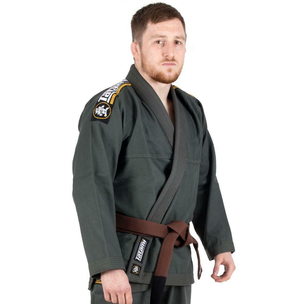 Tatami Nova Absolute Bjj Gi Khaki Jiu Jitsu Kimono Uniform - Gratis Weißer