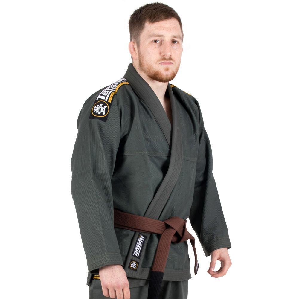 Tatami Nova Absolute BJJ Gi Khaki Jiu Jitsu Kimono Uniform - Free White Belt