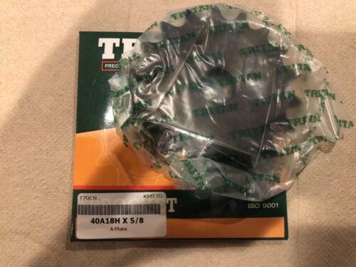 """A Plate TRITAN 40A18H X 5//8 Sprocket 18 Teeth 1//2/"""" Pitch 5//8/"""" Bore"""