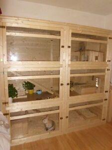 hasenstall kaninchenstall kleintierstall finn 2 ebay. Black Bedroom Furniture Sets. Home Design Ideas