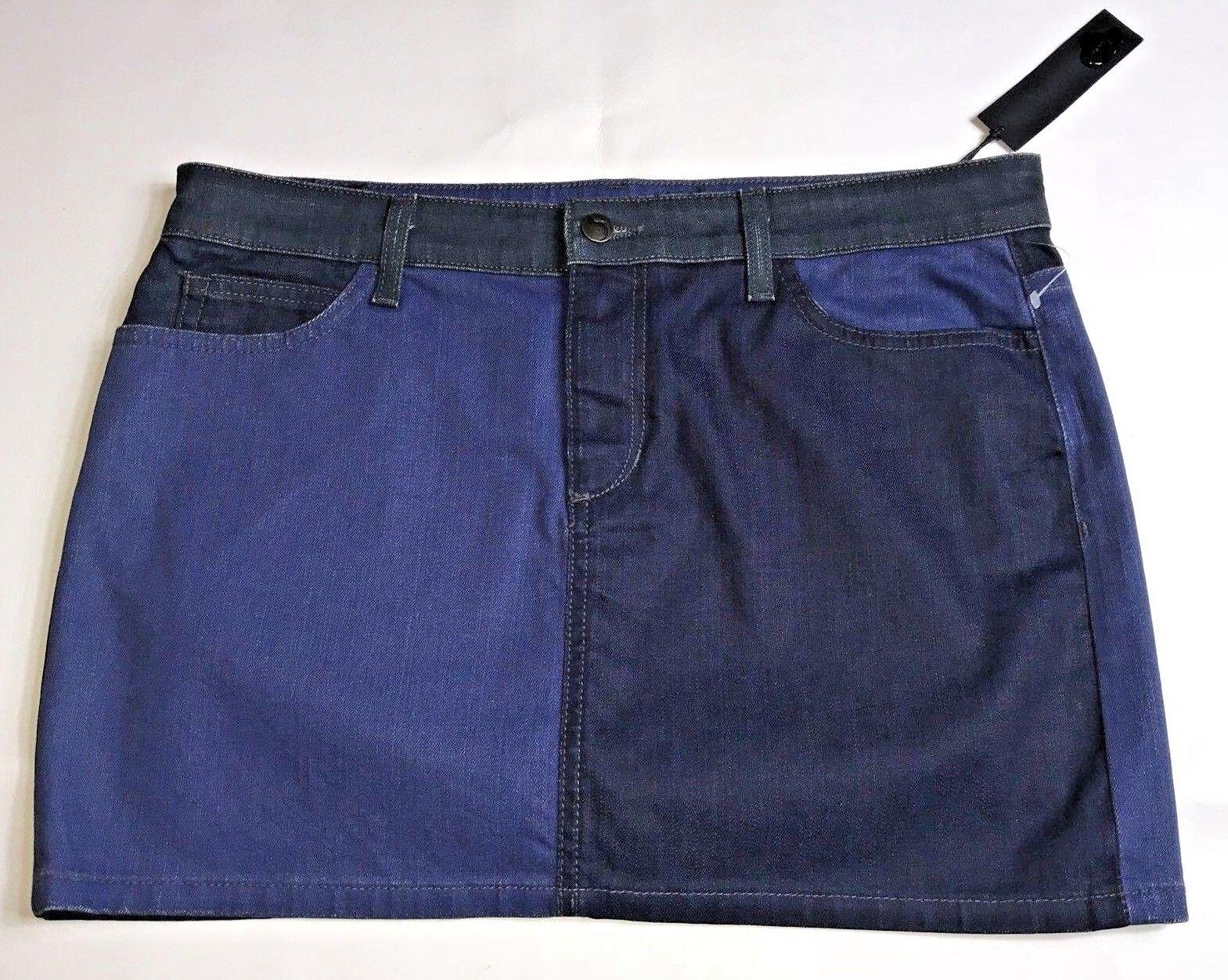 Joe's Womens Daisy bluees Skirt Size 31 Dark Patch Denim Jean Cotton Stretch Mini