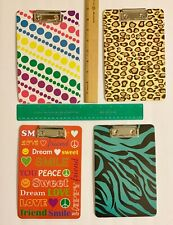 Four 6 X 9 Colorfully Patterned Clipboards All Slightly Bowed 4 Some Reason