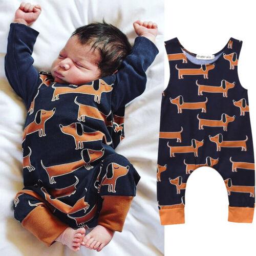 Neugeborenes Baby Jungen Outfit Kleinkind Langärmlig Karton Strampler Kleidung