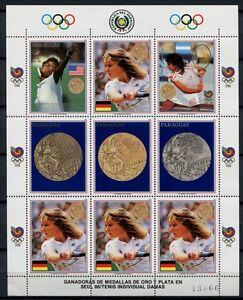 PARAGUAY-1989-Olympiade-Olympics-Seoul-Tennis-S-Graf-4302-Kleinbogen-MNH