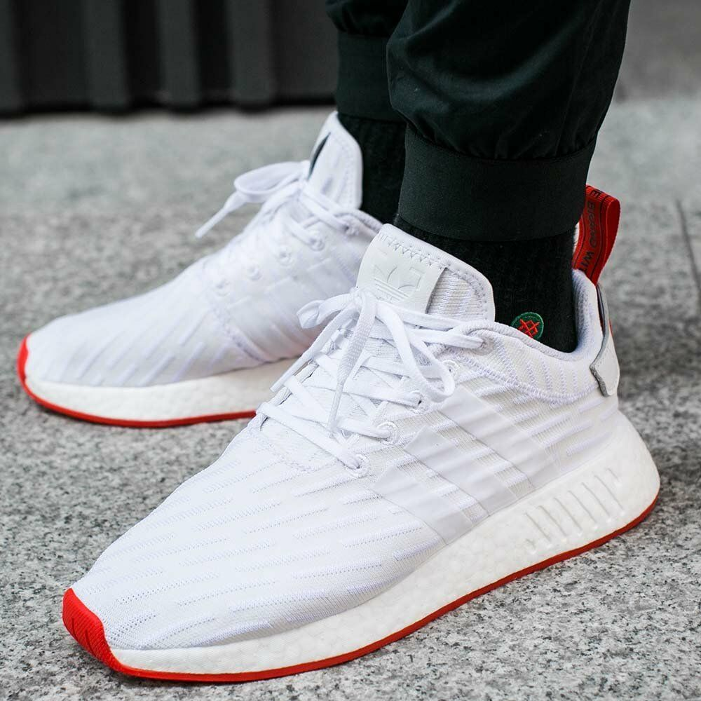 Adidas Originals Mens NMD_XR2 PK White Red Two Toned Boost DS BA7253