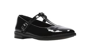 bar Shine' Shoes T 'draw Patent School Clarks Black Girls SZT4q4