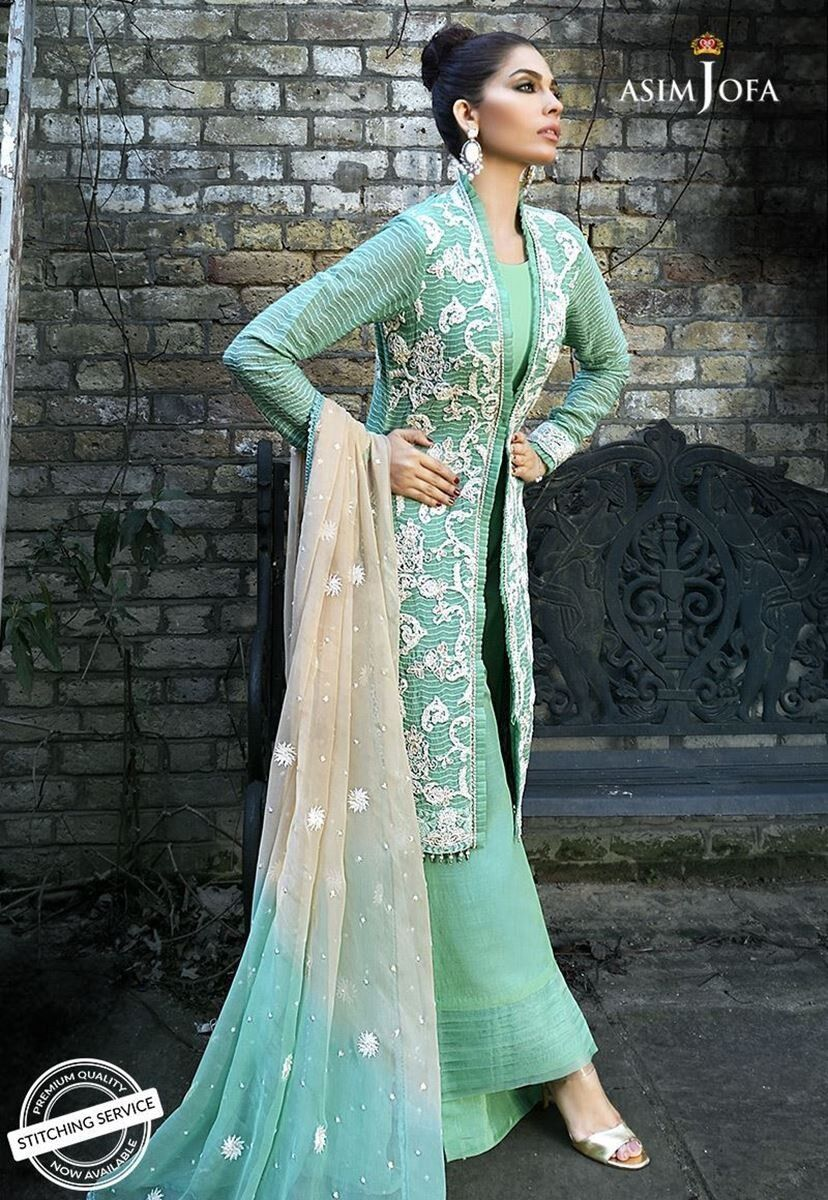 100% Authentic Asim Jofa Luxury Embroidered Collection - AJ02A