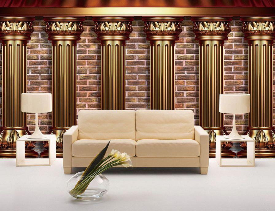 3D Luxuriöse säulen 2044 Fototapeten Wandbild Fototapete BildTapete Familie