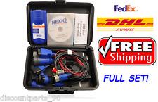 NEXIQ 125032 FULL SET USB Link Diesel Heavy Duty Truck Diagnostic Tool+ Software