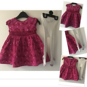 M/&Co Baby Girl Knitted Dress with Tights