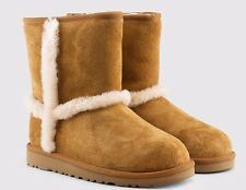 UGG AUSTRALIA HADELY CHESTNUT SHEARLING BOOTS YOUTH US 4 FITS WOMENS US 6 NEW